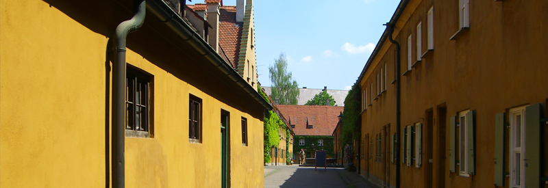 800x300 fuggerei traditionele architectuur, traditional architecture